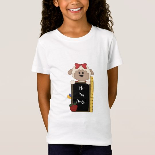 Cute Sheep/Back to School+Personalize T-Shirt