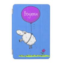 Cute sheep balloon cartoon humor illustration iPad mini cover
