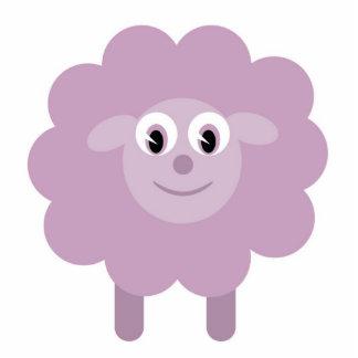 Cute sheep brooch statuette