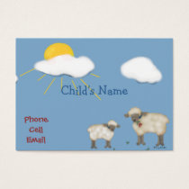 Cute Sheep Children's Calling Card