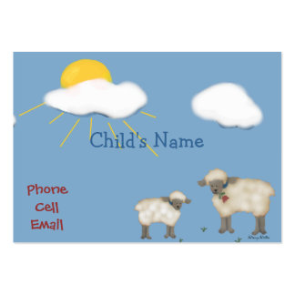 Cute Sheep Children's Calling Card Large Business Cards (Pack Of 100)