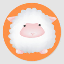 Cute Sheep Classic Round Sticker