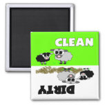 Cute Sheep Clean / Dirty Dishwasher Magnet