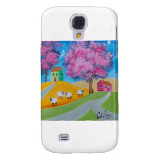 Cute sheep colorful folk art picture samsung s4 case
