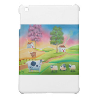 Cute sheep cows folk art naive painting G Bruce Case For The iPad Mini
