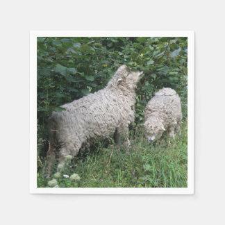 Cute Sheep Eating Leaves Napkins