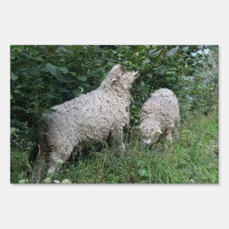 Cute Sheep Eating Leaves Yard Sign