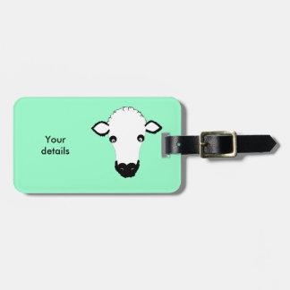 Cute Sheep Face add text Bag Tag