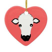 Cute Sheep Face ornament add text