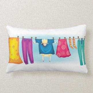 Cute sheep hiding pillow