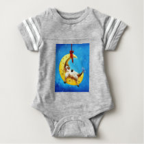 Cute Sheep in the Moon Sheep Incognito Nursery Baby Bodysuit
