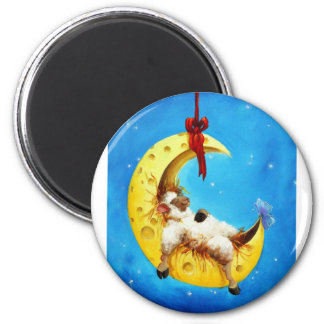 Cute Sheep in the Moon Sheep Incognito Nursery Magnet