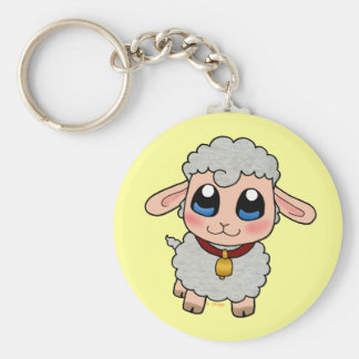 Cute Sheep Basic Round Button Keychain