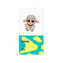 Cute sheep label