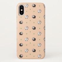 Cute Sheep Lamb Pattern iPhone X Case