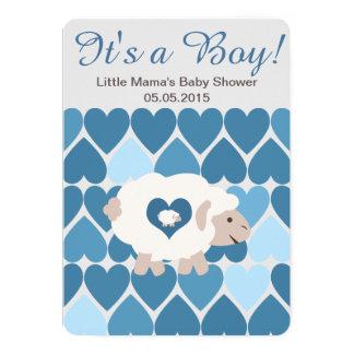 "Cute Sheep Mama It's a Boy! Baby Shower 5"" X 7"" Invitation Card"