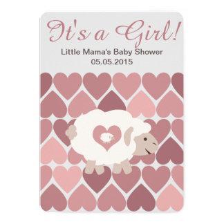 Cute Sheep Mama It's a Girl! Baby Shower Card