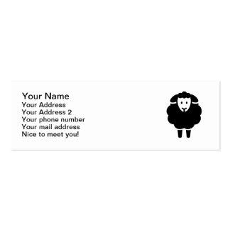 Cute sheep mini business card