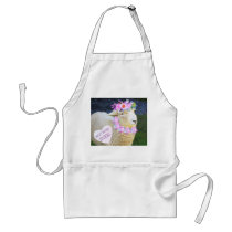 Cute Sheep Mother's Day, Birthday Adult Apron