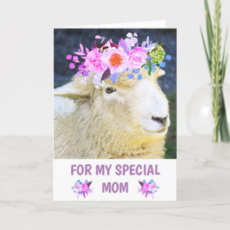 Cute Sheep Mother's Day Holiday Card
