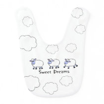 Cute sheep on a bib
