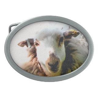 CUTE SHEEP OVAL BELT BUCKLE