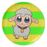 Cute sheep party plate