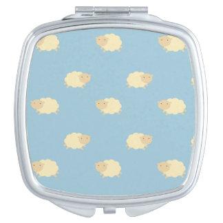 Cute Sheep Pattern Compact Mirror