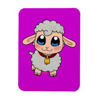 Cute Sheep Rectangular Photo Magnet