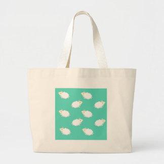 Cute sheep repeating pattern canvas bag