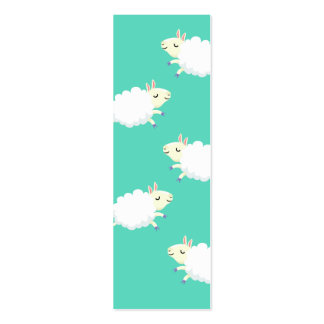 Cute sheep repeating pattern business cards