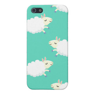 Cute sheep repeating pattern iPhone SE/5/5s cover