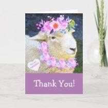 Cute Sheep Thank You Card