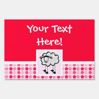 Cute Sheep Yard Signs