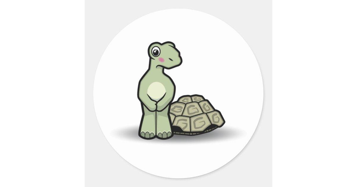 Cute Shell Less Cartoon Tortoise Sticker Zazzle Com