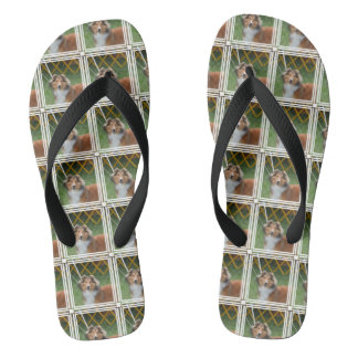 Cute Sheltie Flip Flops