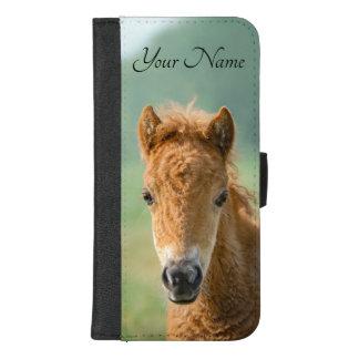 Cute Shetland Pony Foal Horse Head Photo - Name .. iPhone 8/7 Plus Wallet Case
