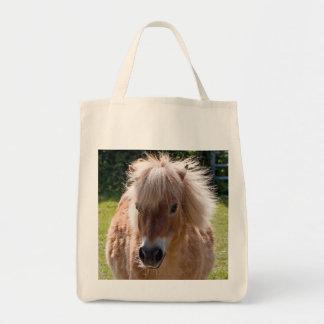Cute Shetland pony head close-up tote bag, gift