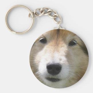 Cute Shetland Sheepdog portrait Keychain