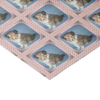 Cute Shetland Sheepdog Puppy Tissue Paper Wrap