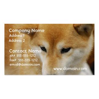 Cute Shiba Inu Business Card Template
