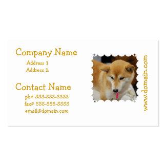 Cute Shiba Inu Business Cards