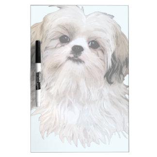 Cute Shih Tzu Art Dry Erase Whiteboards