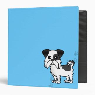 Cute Shih Tzu Black and White  - Pawprint Blue Binder