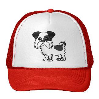 Cute Shih Tzu Cartoon Shirt Black and White Trucker Hat