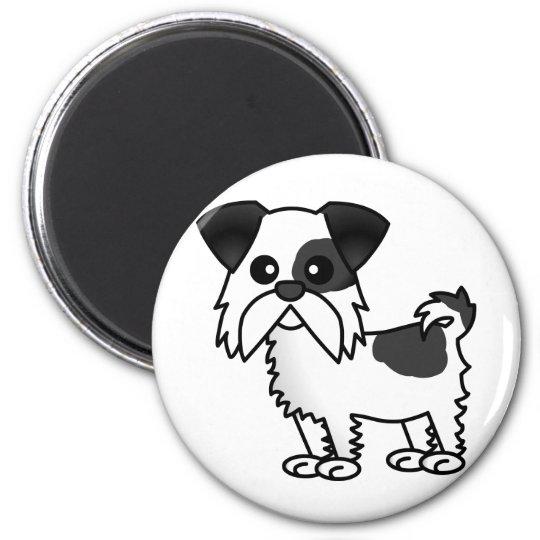 Cute Shih Tzu Cartoon Shirt Black and White Magnet