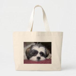 Cute Shih Tzu Dog Large Tote Bag