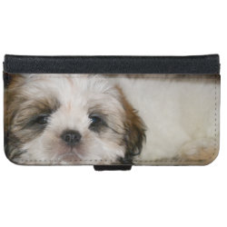 iPhone 6 Wallet Case with Shih Tzu Phone Cases design