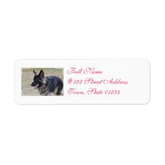 Cute Shiloh Shepherd Label