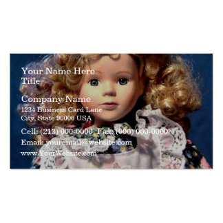 Cute Shirley Temple Doll Business Card Templates